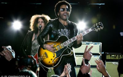 Lenny Kravitz performs at a fundraiser