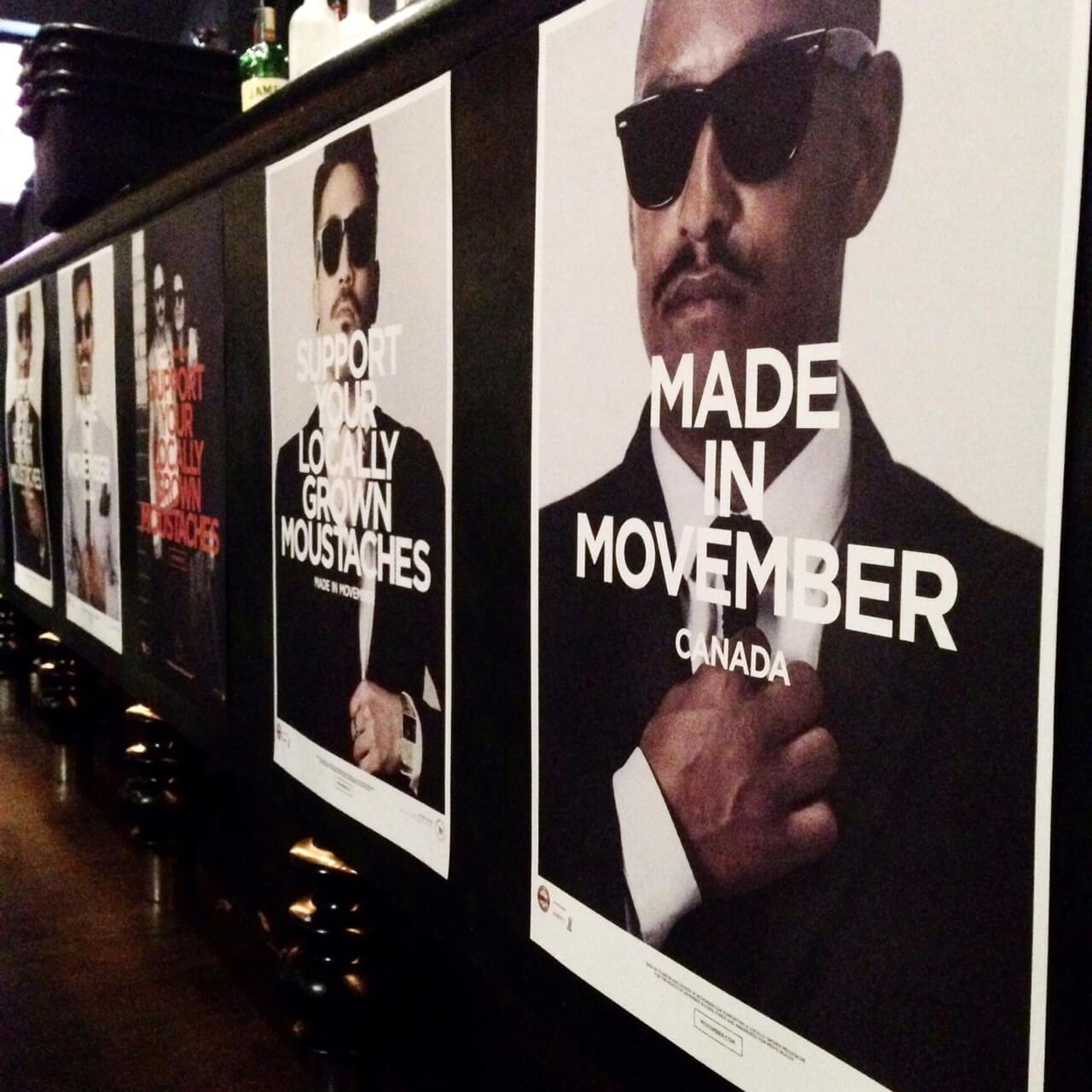 Movember posters in Toronto
