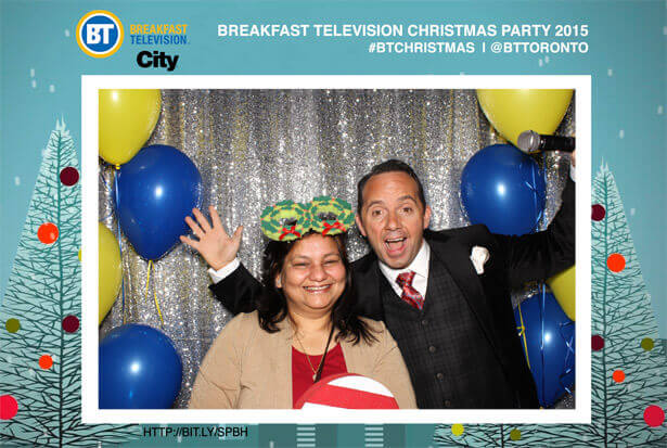 A Christmas photo booth at BTV
