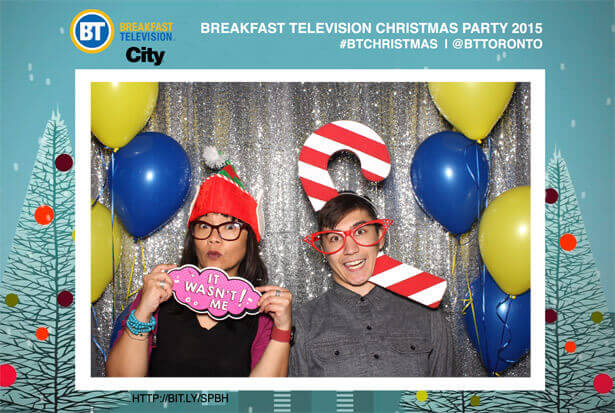 A Christmas photobooth for breakfast television in Toronto