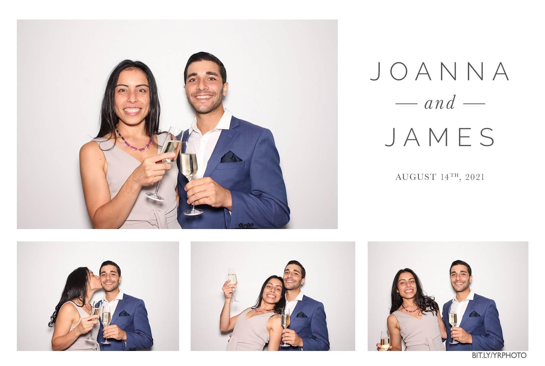 couple enjoying the photo booth